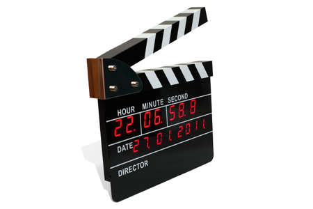 bar magnet: Large electronic clapperboard with  light-pipe timer