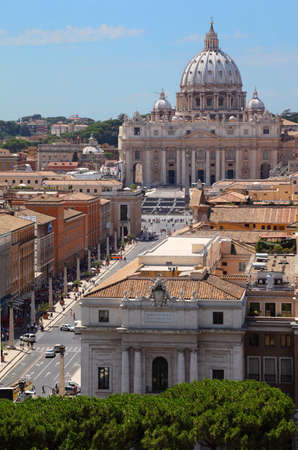 Vatican Museum in Basilica of St. Peter at summer day in Rome, Italy Stock Photo - 17713667