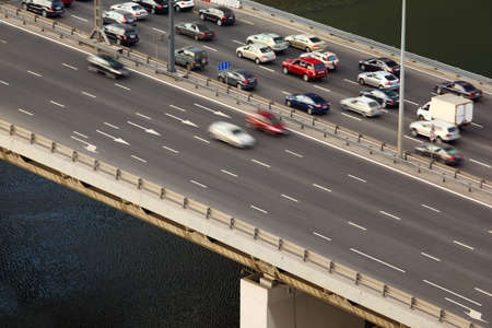 promptly: Dorogomilovskiy bridge on third transport ring in Moscow, Russia