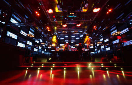 MOSCOW - FEBRUARY 2: Bar in nightclub Imperia Lounge, on February 2, 2011 in Moscow, Russia. In nightclub Imperia Lounge daring ideas of surreal interiors from of the team Goro Pro and Alex Gorobei were embodied. Editorial