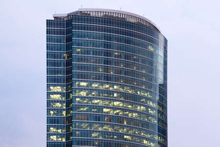administrative buildings: Business Center Tower on Quay in Moscow International Business Center in Moscow, Russia.