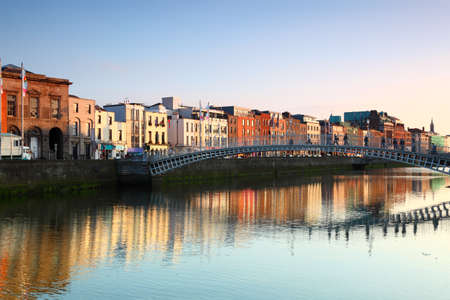 Ha'penny Bridge is pedestrian bridge built in 1816 over River Liffey in Dublin, Ireland.