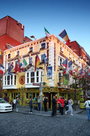 DUBLIN - JUNE 11: Oliver st. John gogarty hotel on June 11, 2010 in Dublin, Ireland. Irish Hotels is one of cheapest hotels in Europe