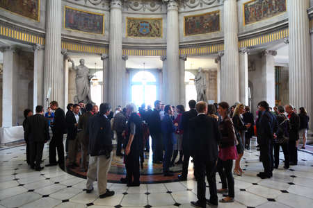 DUBLIN - JUNE 11: People discussing at CEPIC in Dublin City Hall, June 11, 2010 in Dublin, Ireland. CEPIC is center of Picture Industry