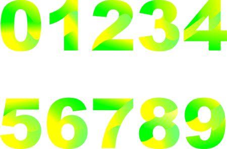 Number color arts  イラスト・ベクター素材