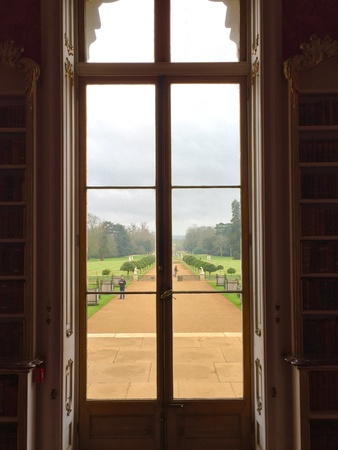 wrest: View through a window. Wrest Park