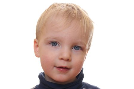 Young blond boy with white background Stock Photo - 6789147
