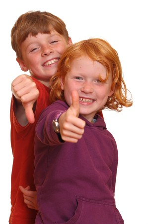 thumbsup: Happy kids with thumbs-up