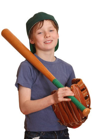 Portrait of a smiling baseball player Stock Photo - 9229100