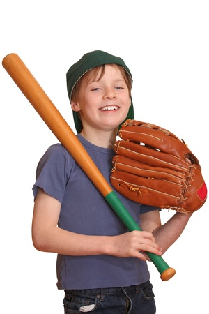 Portrait of a happy baseball player photo