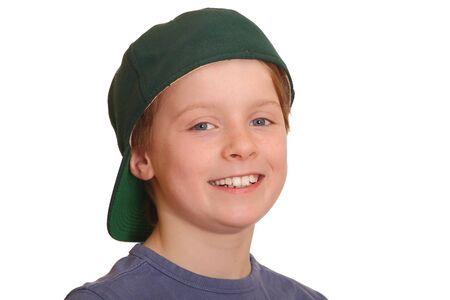 Portrait of a happy young boy with baseball cap photo