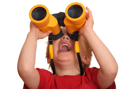 Portrait of a young boy with binoculars Stock Photo - 9325253