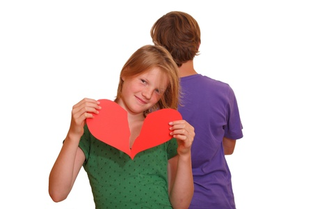 Teenage couple - first love - broken heart photo
