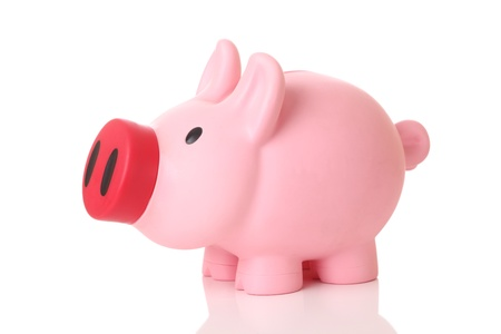Piggy bank on white background Stock Photo - 15694912
