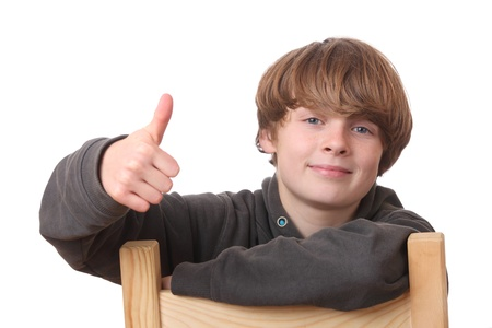 Happy young boy with thumbs up Stock Photo - 16763200