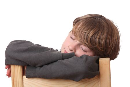 Portrait of a young boy sleeping Stock Photo - 16763202