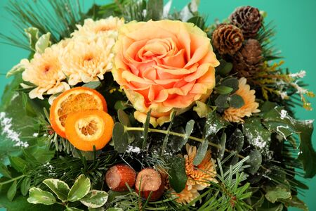 Beautiful orange flowers on green Stock Photo - 16898657