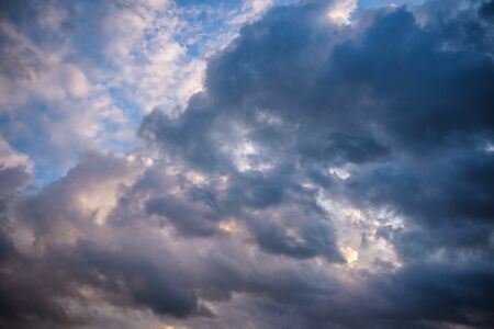 Stormy clouds on summer evening. Rainy sky before the storm