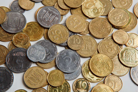 hryvna: Ukrainian coins hryvna