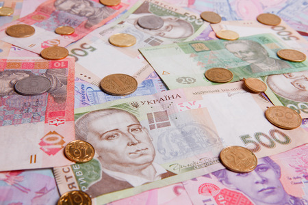 hryvna: Ukrainian money hryvna Stock Photo