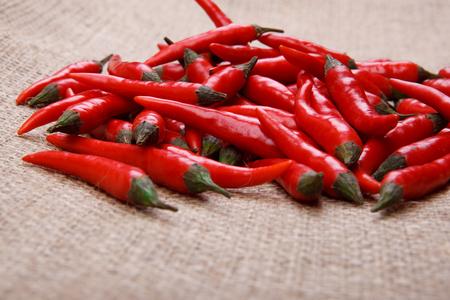 sackcloth: chilies on sackcloth