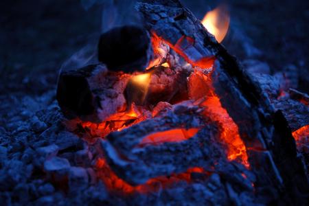 gas fireplace: fire fireplace Stock Photo