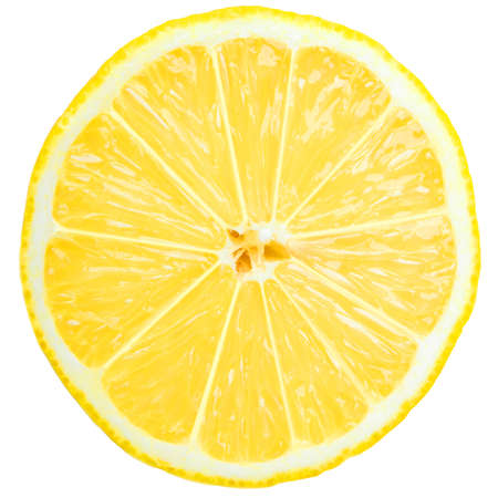 Tranche de citron frais sur le blanc