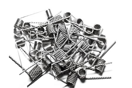bobina: vape coil kanthal white Foto de archivo