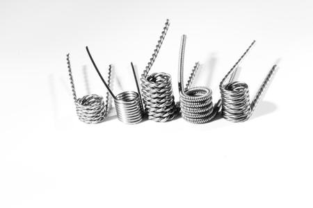 spirale: vape coil kanthal white Lizenzfreie Bilder