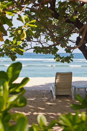 lounger on the ocean beach