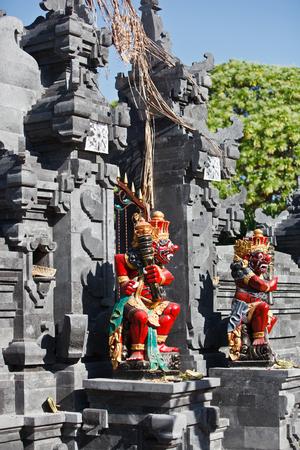 Balinese figures of gods Stock Photo