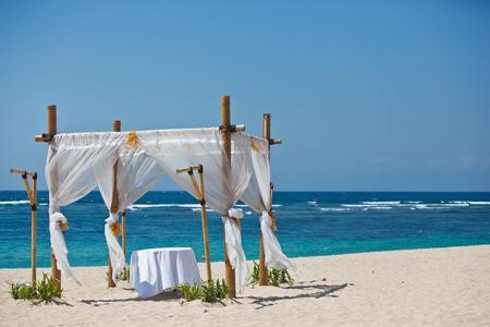 romantic dinner table by the ocean