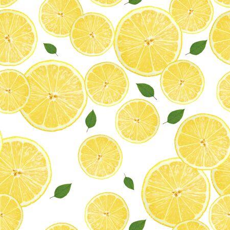 lemon sliсes texture pattern isolated Stok Fotoğraf