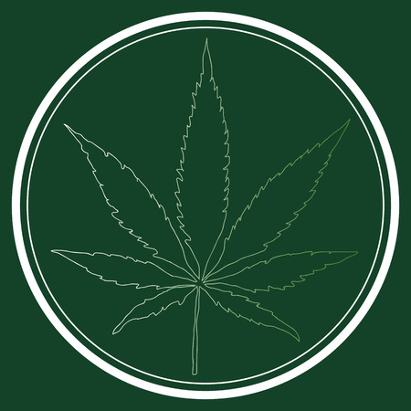 canabis: medical marijuana logo with hand-drawn vector, canabis