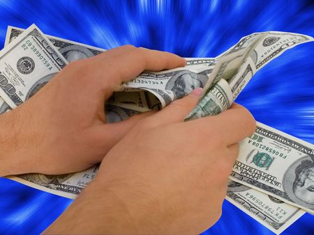 roll curtains: Money Stock Photo