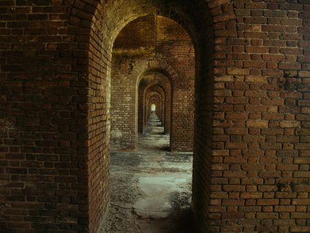 dry tortugas: Brick Arches in Dry Tortugas