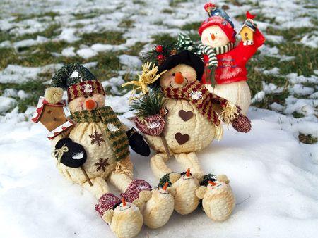 Snow people Stock Photo - 3650074