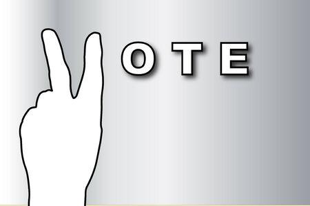 voter registration: Vote banner