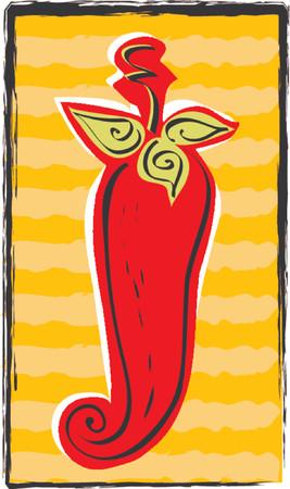 Whimsical Chili Pepper Çizim
