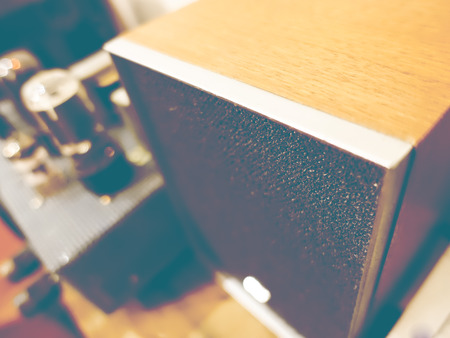 home audio: Vacuum tube audio and speaker at home