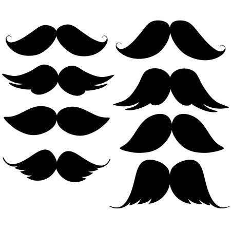 set of hipster mustache