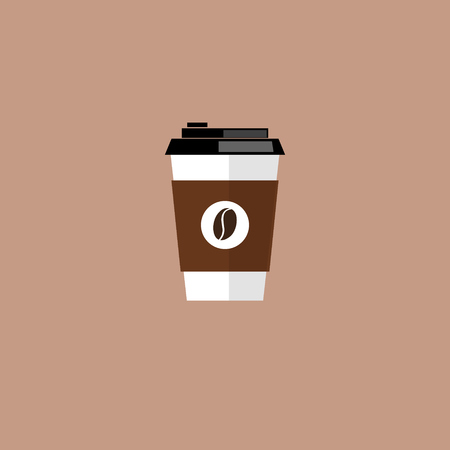 coffee beans: Coffee cup. Coffee cup vector illustration. Coffee cup icon. Coffee cup isolated on background. Paper coffee cup. Coffee cup in flat style. Coffee cup beans.