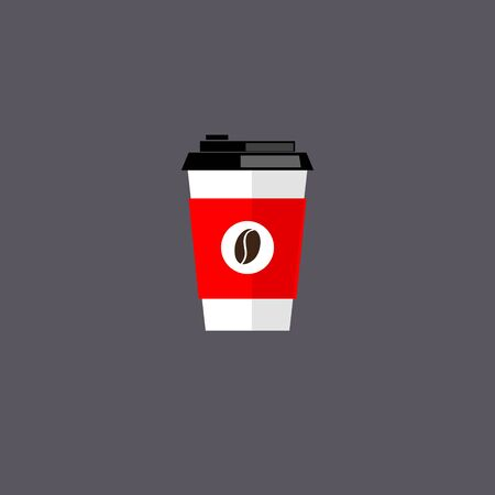 coffee cup isolated: Coffee cup. Coffee cup vector illustration. Coffee cup icon. Coffee cup isolated on background. Paper coffee cup. Coffee cup in flat style. Coffee cup beans.