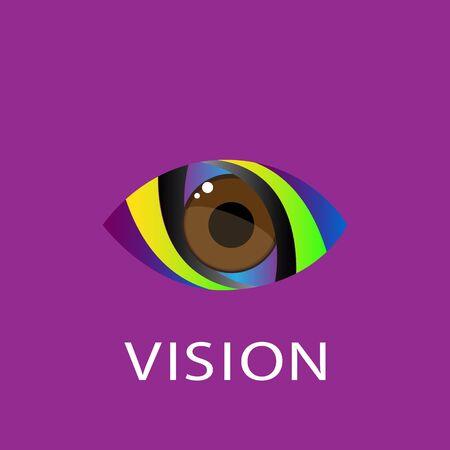 eye icon: Eye icon design template. Colorful media icon.