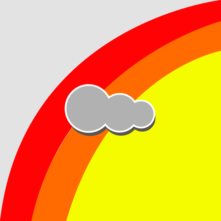 Cloud icons for cloud computing web and app. Illustration