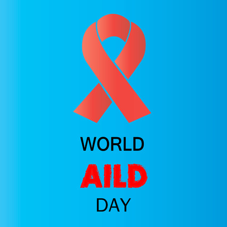 sexual intercourse: 1st December World Aids Day concept with text and red ribbon of aids awareness.