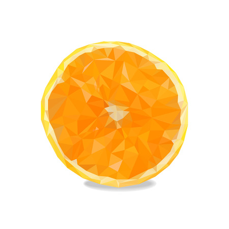 tessellated: orange in triangulation technique