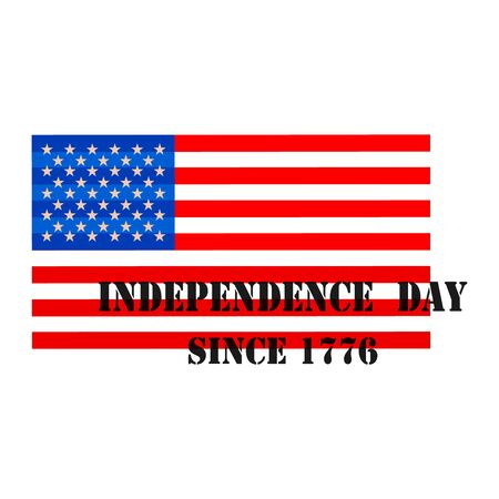 nationalism: Fourth of July. Independence day. Vector sign Illustration