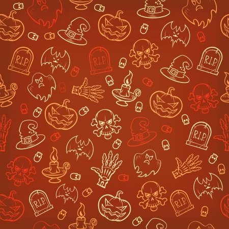 Halloween seamless background vintage colors. Vector