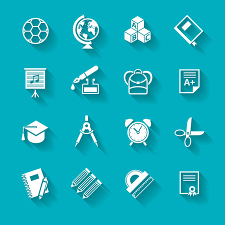Set of school and education icons